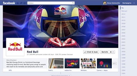 nieuwe facebook timeline